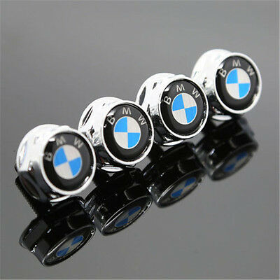 Free Shipping 4PCS Car License Plate Frame Screw Bolts Cap Cover For BMW Logo