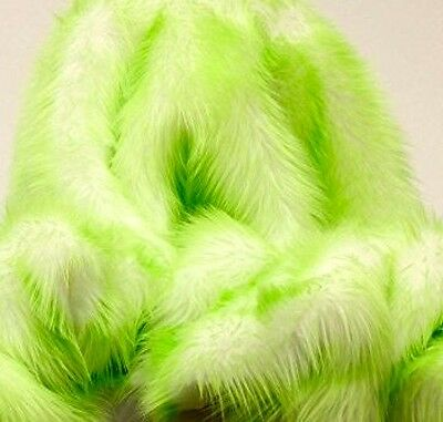 "Faux Fur fake White With Aqua Frosted tips fabric 60/"" Wide sold by the yard"