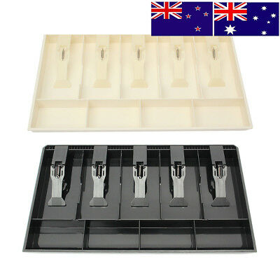 New 4 Bill 3 Coin Trays Cash Coin Register Replacement Money Drawer Storage Box