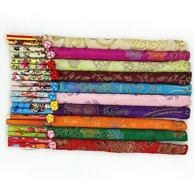 Exquisite Pack of 1/2/5 Pairs Traditional Chinese Bamboo Chopsticks Gift CC
