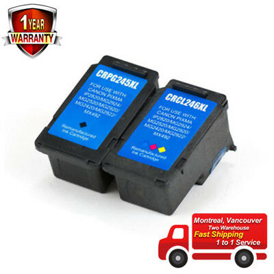 2PK Ink for Canon PG-245XL CL-246XL MX492 iP2820