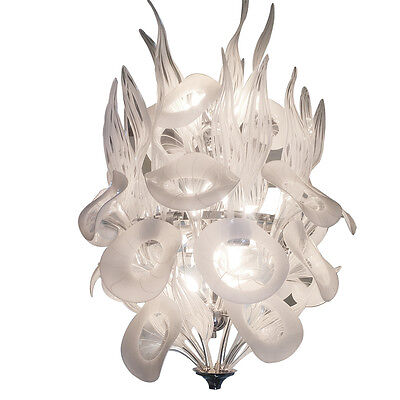 Monumental 1970's Murano Glass Call Lily Chandelier