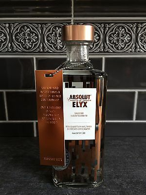 Absolut Vodka Elyx # 666 / 1000 * Limited Singapore Edition + Tag * New & Rare *