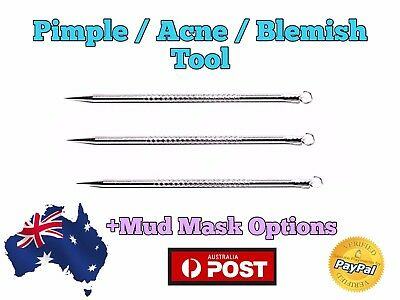 Blackhead Acne Pimple Tool Popper Popping Ingrown Hair Remover +Face Mud Mask