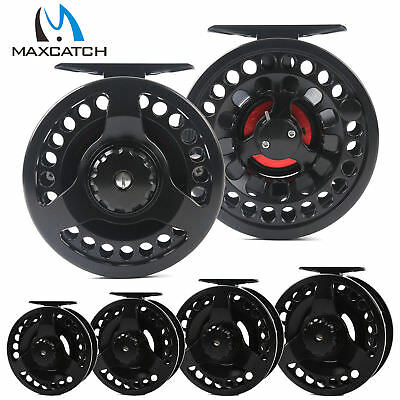 Maxcatch 3/4/5/6/7/8/9/10WT Large Arbor Aluminum Fly Fishing Reel & Reel Bag