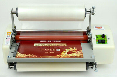 Newest version Four Rollers Hot and cold roll laminating machine for 13""