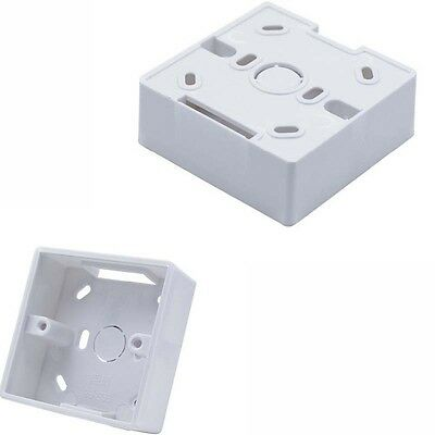 86mm x 86mm x 33mm White PVC Single Gang Mount Back Box for Wall Socket