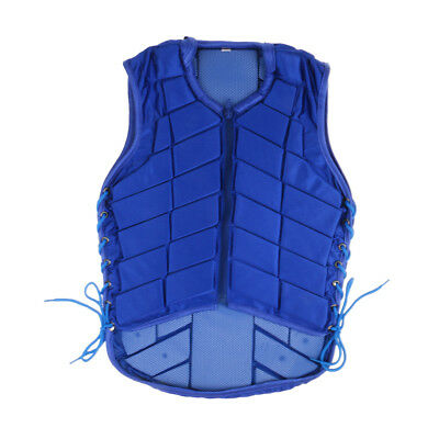 Horse Riding Vest Safety EVA Padded Equestrian Waistcoat Blue for Kids Adult