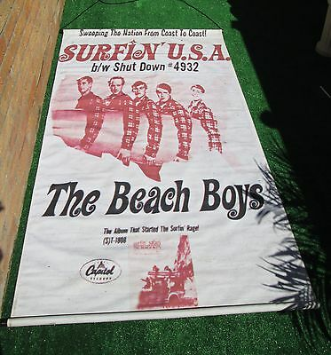 """The Beach Boys Canvas Stage Banners  Large 74"""" X 38"""" - Unique One Off"""
