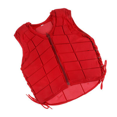 EVA Padded Waistcoat Equestrian Safety Vest Horse Riding Body Protector Red