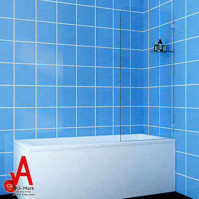 700/800/900mmx1450mmFixed Over Bath Panel Square Shower Screen 10mm Glass