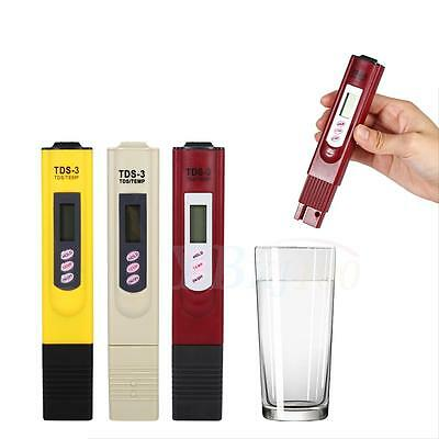 New TDS Meter Digital LCD Tester Water Quality Filter Purity Pen Stick 0-9999PPM