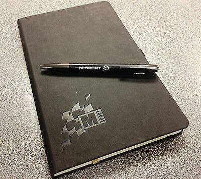 M-Sport Branded Bespoke Carbon Effect Pen & High Quality Note Pad Set