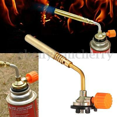 Flamethrower Burner Butane Gas Blow Torch Ignition Camping Welding BBQ Tool