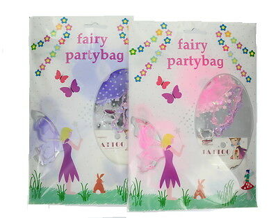 Childrens Girls Prefilled Fairy Fashion & Hair Accessory Party Gift Bag