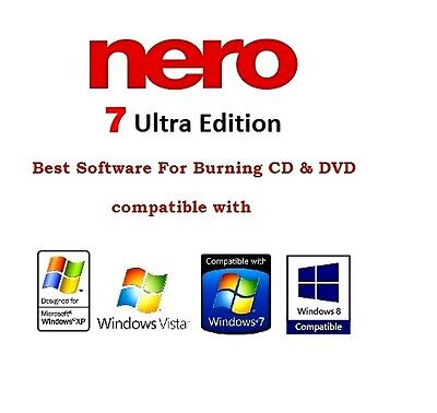 NERO 7 Ultra Edition CD and DVD Burning Software Free & Fast Shipping