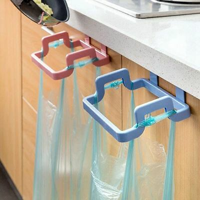 Portable Trash Storage Cupboard Hanging Bag Can Rack Holder Garbage Pouch Rack