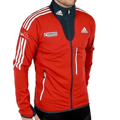 "adidas ""Fleece Jacket Canada Men"" Herren Fleecejacke warm Winter Sport Jacke rot"