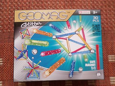 Geomag Glitter 30 Piece Magnetic Construction Set New Free Post