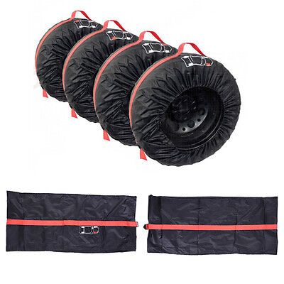 "Car SUV Spare Wheel Tyre Tire Protection Storage Bag 13""-20"" Carry Tote Cover w/"