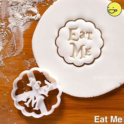 Eat Me cookie cutter | Alice in Wonderland tea party wedding biscuit cutters
