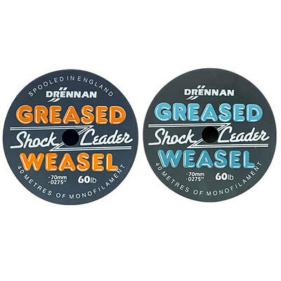 Drennan Greased Weasel Shock Leader, Sea fishing leaders, sea fishing, NEW