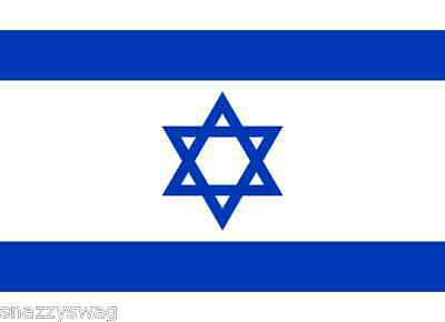 ISRAELI NATIONAL FLAG OF ISRAEL 5 ft X 3 ft LARGE GREAT VALUE Polyester NEW