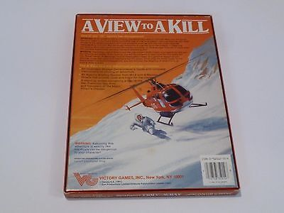 JAMES BOND 007 - A VIEW TO A KILL - Role Playing RPG Victory Games