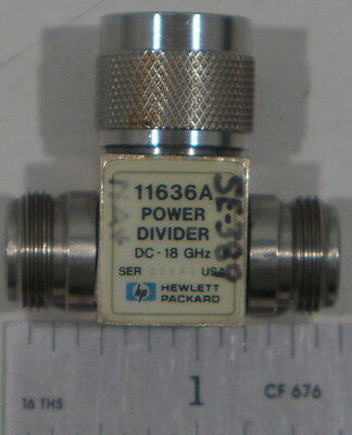 Agilent/HP 11636A Power Divider DC to 18 GHz 50 Ohms