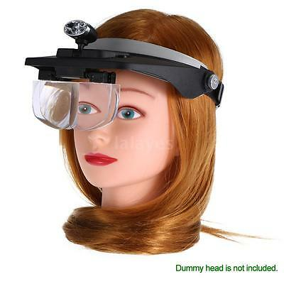 Magnifier Glasses LED Headband Light Eyelash Extension Repair Magnifying J2A6