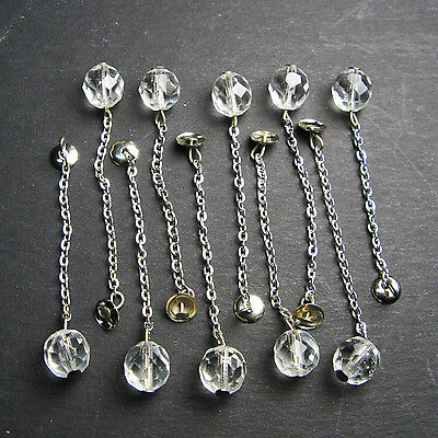 "Replacement 3.25"" Crystal Bell Clappers Set of 10"