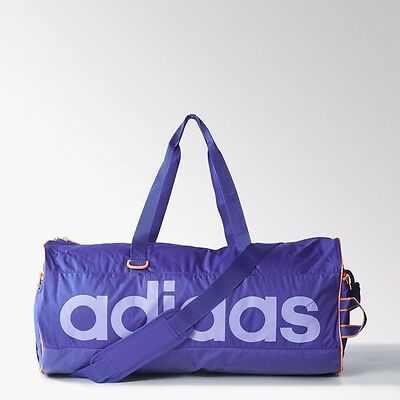 Purple Holdall - Adidas Linear Performance Violet Bag - S22043 Lilac Rrp £25