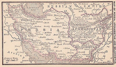 1887 Antique Map of Iran and Afghanistan (Original)