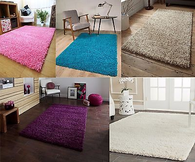 Large Super Soft And Fluffy Shaggy Rugs Non Shed Modern Carpet Mat 160x230cm New