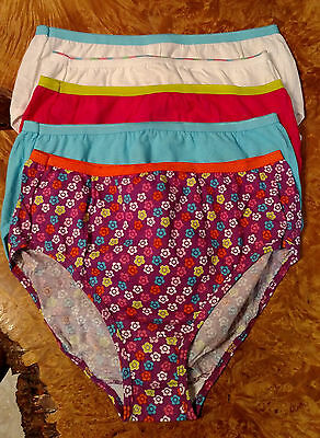 5 HANES Girls Panties Briefs Size 16 New Out of Package