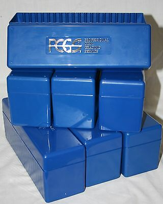 7 Blue Pcgs Boxes-Holds 20 Slabbed Pcgs Coins Each