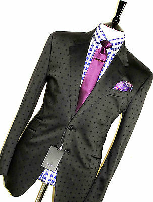 Bnwt Luxury Mens Paul Smith London Dotted Tailor-Made Slim Suit 44R W38