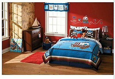 NEW Circo Pirate Adventures Collection Full / Queen Size Quilt Blue/Brown