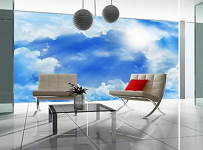 Photo Wallpaper  Beautiful Clouds GIANT WALL DECOR PAPER POSTER FREE PASTE