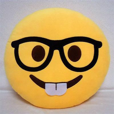 Cute Emo Nerd Emoticon Pillow