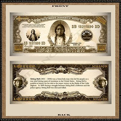 Sitting Bull Million Dollar Bill