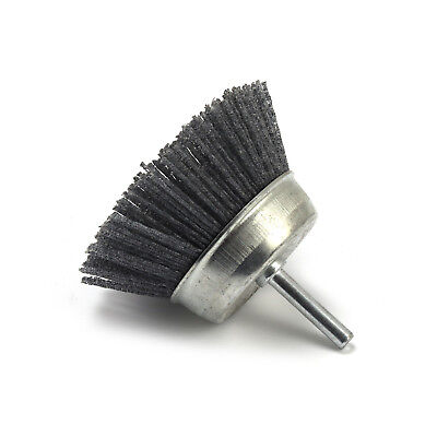 3 Inch Abrasive Wire Polishing Cup Brush Nylon Wire Brush Grit 120 Shank 6mm
