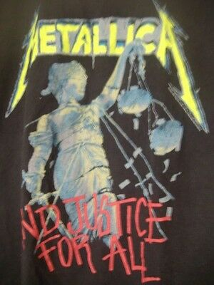 2007 Metallica Justice For All Black Concert Tshirt size L