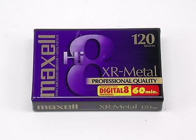 Maxell XR-Metal HI8 120 Professional Quality 8mm Camcorder Videotape Digital 8
