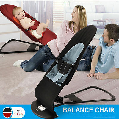 Deluxe Safe Newborn Support Soft Toddler's Rocking Balance Chair Baby Bouncer