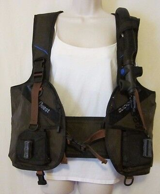 Seaquest Quickdraw Integrated Weight Holster XL BCD SCUBA Dive Vest Black