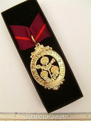The Most Honourable Order Of The Bath Knighthood Sash Neck Badge Decoration Gold