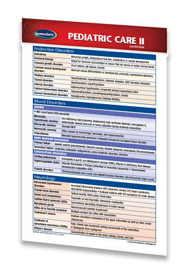 Pediatric Care II - Medical Pocket Chart - Quick Reference Guide