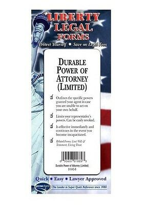 Durable Power of Attorney (Limited) Legal Forms Kit - USA - by Permacharts
