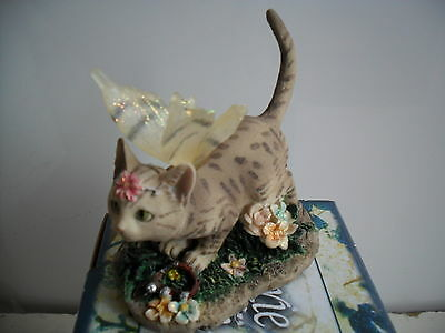 Faerie  Glen Faerie Tails Fairy Cat FigurineTabby Cat Annabel Boxed
